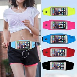 Discount sky mobile phone cases - 2019 Outdoor Sports Waist Belt Pouch inch Case Cover Running Pocket Bag Phone Bag Gym Waterproof Running Jogging Mobile