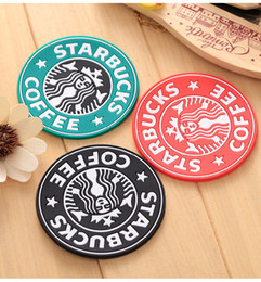 $enCountryForm.capitalKeyWord Australia - Wholesale NEW Table decoration Silicone Coasters Cup thermo Cushion Holder Starbucks sea-maid coffee Coasters Cup Mat