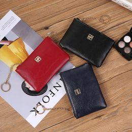 $enCountryForm.capitalKeyWord Australia - Women's Coin Purse Fashion Mini Small Leather Female Keys Card Cash Bag Wallet Tassel Leave Keychain For Girl