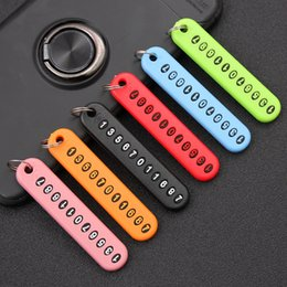 $enCountryForm.capitalKeyWord Australia - Anti lost Phone Number Plate Car Keychain Pendant Auto Vehicle Phone Number Card Keyring Key Chain