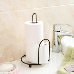$enCountryForm.capitalKeyWord Australia - Creative Iron Art Vertical Tissue Holder Vertical Roll Pole Paper Towel Holder for Kitchen Toilet Free Standing Kitchen