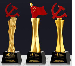 $enCountryForm.capitalKeyWord Australia - Avenue The Party Flag Flying Credit Program card star Gold-plated Resin small decoration trophy crafts Free engraving World Cup