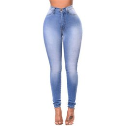 korean female jeans UK - High Quality 2019 Jeans Pants Capris Female Skinny Waist Women Trousers Jeans Girls Work Plus Size Pearl Vintage Strech Korean