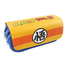 Naruto Coins Australia - Son Goku One Piece Naruto SAO Children Teenager Student Pencil Case Box Pen Bag Cosmetic Makeup Change Purse Bag