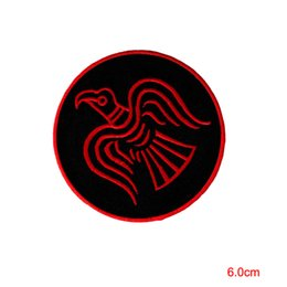c32a2a9a1cab4e ODIN RAVEN PATCH iron on VIKING EMBLEM embroidered NORSE MYTHOLOGY NORWAY  RED Stickers Appliques custom patch