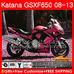 gsxf fairings UK - Body For SUZUKI KATANA GSXF 650 GSXF-650 08 09 10 2008 2009 2010 18HC.124 GSXF650 GSX650F 11 12 13 2011 2012 2013 2014 red flames Fairings