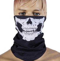 Bicycle Black Ghost Australia - Unisex Halloween Scary Mask Party Volto Skull Masks Skeleton Outdoor Motorcycle Bicycle Men Lower Half Face Mask Women Ghost Scarf