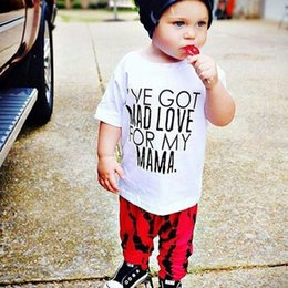 266394222 2019 Summer baby clothing set short-sleeved T-shirt pants suit boy clothing  set tracksuit children Newborn Boy Clothes