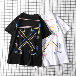 t shirts new trends 2019 - Brand OF White Box LOGO Classic Color Geometry 19 Designer New Trends Couple White Black T-Shirt High Quality Free Shipp
