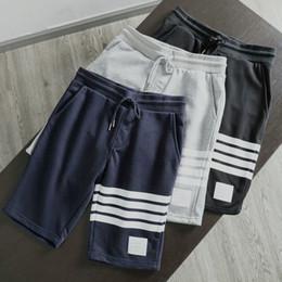 Mulheres ou homens de moda Melhor Versão TB mens corredores listrado Qualidade Cordão esportes calças curtas calças de calça de moletom casuais pantalon homme venda por atacado