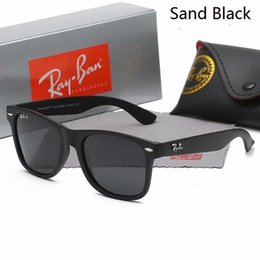 Wayfarer Black White Australia - Cat Eye Wayfarers RAY Sunglasses Men Women Vintage Brand Sun Glasses Bands Gafas de sol BANS BEN Polarized 2140 With Cases 11 Colors