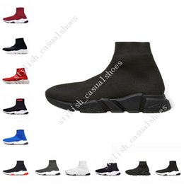 32d716509b469 2019 designer men women Speed Trainer fashion Luxury Brand Sock Shoes black  white blue red Flat for mens Trainers Runner sneakers size 36-45