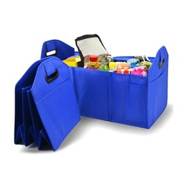 organizer bags for cars 2019 - Non-woven Portable Clothes Storage Bag Organizer Organizer Storage Bin Bag Collapsible Fold For Grocery Car Truck discou