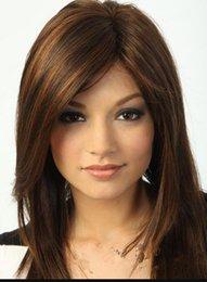 $enCountryForm.capitalKeyWord Australia - WIG FREE SHIPPING Hot heat resistant Party hair>>>New sexy ladies Medium long Dark Brown Straight Natural Hair wigs