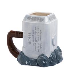 Spoon Mugs UK - Marvel Thor Coffee Mugs Ceramic Hammer Shaped Cups And Mugs Large Capacity Mark Creative Drinkware C19041302