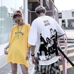 $enCountryForm.capitalKeyWord Australia - Summer Men's Short Sleeve T-Shirt Hip Hop Street Costume Naruto Cartoon Character Print Tee Casual Crew Tee Shirt Couple Top