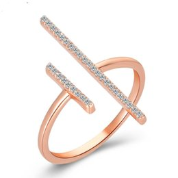 Adjustable White Gold Diamond Ring UK - jingyang Adjustable Lucky Digital Jewelry Rings For Women Fashion Crystal Jewellery Ring Valentine's Day Present Accessories