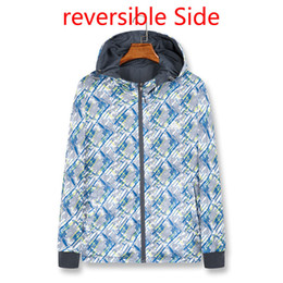 mens reversible jackets NZ - Fashion Mens Reversible Jacket Thin Brand Windbreaker Jacket Casual Outdoor Sports Wear Spring Hooded with Logo Asian Size M-3XL