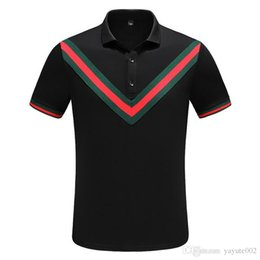 Polyester Mens Polo Shirts UK - 2018 Designer Mens Polo Shirts Summer Luxury Polo Mens Shirt Loose Breathable Letter Print Casual Style Brand Shirt M-3XL