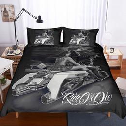 Designer Double Beds Australia - Gothic Skull Bedding Set King Size Bedding Set Single Double Designer Luxury Bedding Set Duvet Cover Pillowcase Home Textile