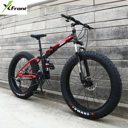 bike wheel 26 front Australia - New X-Front Brand 24 26 4.0 fat tire wheel 7 21 24 27 speed Four-link soft tail frame folding mountain bike downhill MTB bicycle