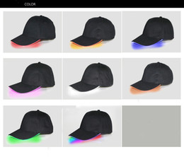 $enCountryForm.capitalKeyWord Australia - Designer LED Baseball Caps Cotton Black White Brown Shining LED Light Ball Caps Glow In Dark Adjustable Snapback Hats Luminous Party Hats
