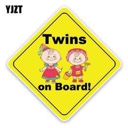 $enCountryForm.capitalKeyWord Australia - YJZT 14.5*14.5CM Interesting Twins Car Sticker Toy Fairy Baby On Board Safety Caution Sign For C1-5613
