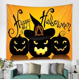 Bedroom wall tapestry online shopping - 200x150 Halloween series decorative background cloth wall hanging cloth Halloween style tapestry room girl bedroom decoration cloth bedroom