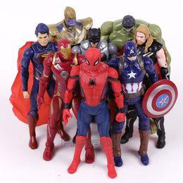 $enCountryForm.capitalKeyWord NZ - Marvel Super Heroes Iron Man Spiderman Captain America Thor Hulk Thanos Pvc Action Figures Toys Gift For Boy 8pcs  Set 16cm