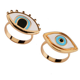 Punk Rings Australia - 2018 Limited Time-limited Resin Punk Anel Ring Anillos Turkish Evil Eye Rings Jewelry Bff Best Friends Couple Fashion Designer