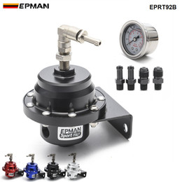 Discount universal oil pressure gauge Epman Racing Car Styling Universal Adjustable Fuel Pressure Regulator Oil Gauge AN6 1 8NPT Fitting EPRT92B