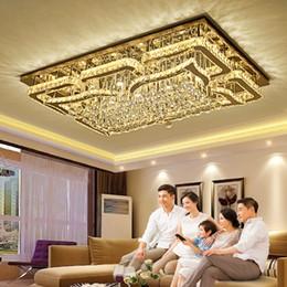 crystal chandelier pendant light ceiling hanging 2019 - Modern LED Pendant light square K9 crystal chandelier ceiling living room lights indoor lighting hanging lamp chandelier
