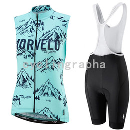 $enCountryForm.capitalKeyWord Australia - MORVELO women summer Cycling Sleeveless jersey Vest Breathable bib shorts sets Thin and light Slim fit Sports suits 61123