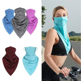 cool face masks 2020 - Quick Dry Cycling Scarf Summer Cool Ice Silk Half Face Masks Sun-proof Triangular Bandage Outdoor Hat Wrist Guard Biker