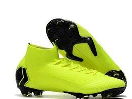 Großhandel 2019 Männer Schuhe Mercurial Superfly VI 360 Elite CR7 Neymar FG Outdoor Schuhe Stollen Steigeisen von SuperflyX Ronaldo orange Schuhe