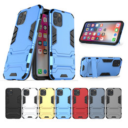 predator case 2020 - Back Cover Phone Case Heavy Duty Shockproof Rugged Armor Robot Predator Cases Stand Holder Covers For iPhone 11 Pro Max