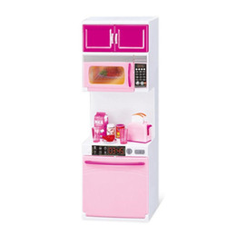 Girls Kitchen Play Set Australia - Kids Kitchen Pretend Play Cooking Set Cabinet Stove Toy Girl Doll Accessory Gift Educational Toys For Children Puzzle Gift