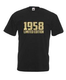 $enCountryForm.capitalKeyWord UK - 1958 Limited Edition Gold Text Cool T-SHIRT ALL SIZES # Black