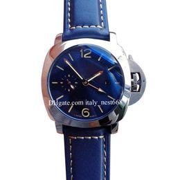 Luxury Watches Blue Australia - High Quality LUXURY Men Wristwatches Blue Cow Strap teel Sapphire Glass Mirror Automatic Mechanical Men Men's Sport Watches Heuer Watch