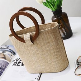 $enCountryForm.capitalKeyWord Australia - Rattan Woven Fashion Bohemia Women Handbag Handmade Knitted Straw Large Capacity Totes Women Shoulder Bag For Beach Travel