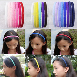 $enCountryForm.capitalKeyWord Australia - girl Hair hoop grosgrain ribbon Lined Covered Plastic Hair Bands Christening Performances hard Headband Hair Accessories
