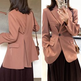 Wholesale korean fashion blazers for sale - Group buy Women fashion blazers spring autumn new korean style slim office lady suit jackets coat Female
