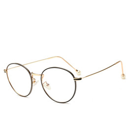 China 9008 Luxury Glasses For Men Fashion Design Popular Hollow Out Optical Lens Cat Eye Full Frame Black Tortoise Silver Come With Package cheap titanium frames for women suppliers