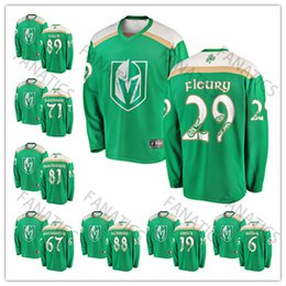 904d20991 2019 St. Patrick s Day Vegas Golden Knights Jonathan Marchessault William  Karlsson Reilly Smith Max Pacioretty Marc-Andre Fleury Jersey