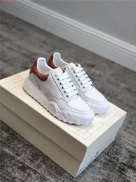 thick base shoes women Canada - Ladies leather Thick base small white shoes matching color low top lacing casual shoes heighten shoes With box size 35-40