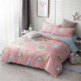 pink purple girls bedding 2019 - Pink star 3 4pcs Bedding Sets girls cartoon Duvet Cover Bed Sheets Pillowcases twin full queen king Comforter cover bedc