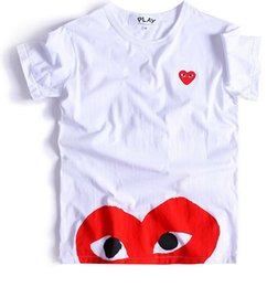 China 2018 Designer T Shirt Mens New Fashion Brand Plays Games Red Heart Men Lovers Printed T Shirt Hip-hop Solid Short Sleeve Women Tops 2134545 cheap plays suppliers