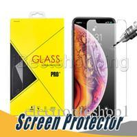 Glass Film Screen Protector Anti Shatter Australia - Screen Protector Anti-shatter Film Tempered Glass For iPhone X Xr Xs Max 8 7 6S Plus Samsung Stylo 3 4 J3 J7 Prime With Retail Package