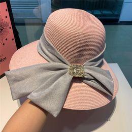 $enCountryForm.capitalKeyWord Australia - Brand Wide Brim Floppy Fold Sun Hat Summer Hats for Women Out Door Sun Protection Straw Hat Women Beach Hat