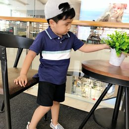 butterfly polo Australia - Children Boy T-shirt CHILDREN'S Polo Shirt Short Sleeve Big Boy Korean-style Short Sleeve T-shirt Brand Childrenswear Discount